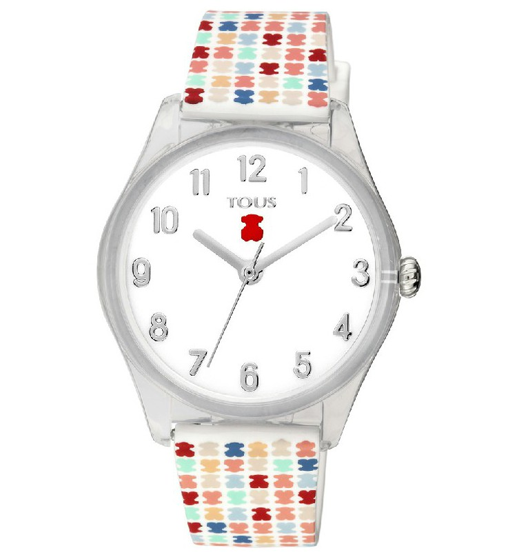 a596f5643917 Reloj TOUS Tartan Kids de policarbonato con correa de silicona multicolor -  900350255